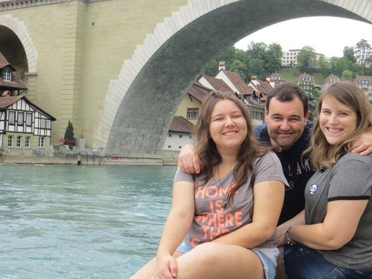 rio Aare, nós três, Berna