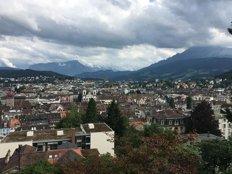 vista cidade da muralha, Lucerna