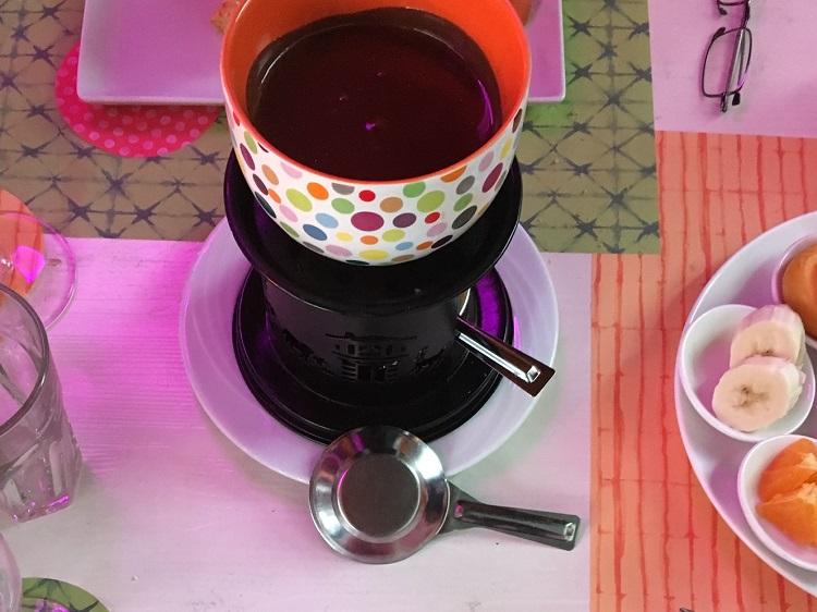 fondue chocolate, Lucerna