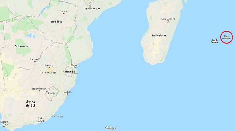 mapa google - maurícia